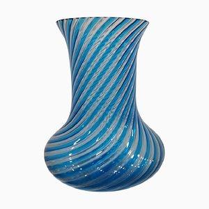 Jarrón vintage de cristal de Murano, años 50