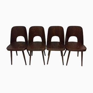 Vintage Dining Chairs by Oswald Haerdtl, 1950s, Set of 4