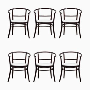 Bentwood Dining Chairs from TON, 1970s, Set of 6