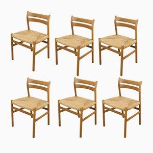 Chaises de Salle à Manger Modèle BMI en Chêne par Børge Mogensen pour CM Madsen, 1960s, Set de 6