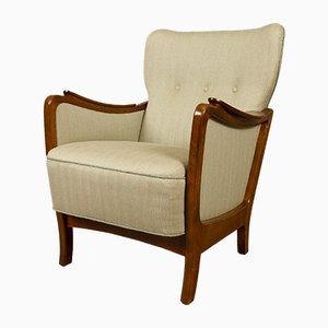 Mid-Century Danish Wingback Lounge Chair, 1950s