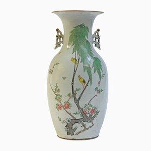 Jarrón chino antiguo de porcelana