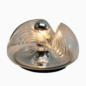 Clear Glass Sconce by Koch & Lowy for Peill & Putzler, 1970s