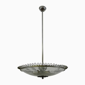 Italian Ceiling Lamp from Fontana Arte, 1940s
