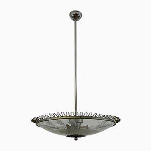 Italienische Deckenlampe von Fontana Arte, 1940er