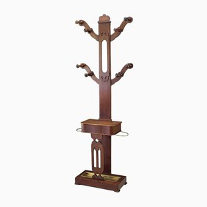 Antique Victorian Mahogany Coat Rack