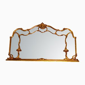 Espejo con marco de madera, siglo XIX