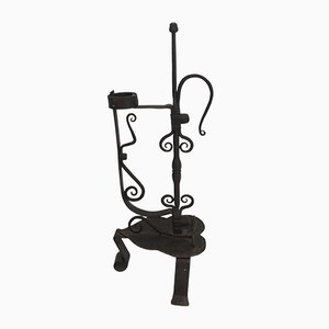 French Wrought Iron Candleholder, 1920s