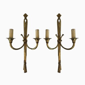 Model BS-368 Bronze Sconces, 1950s, Set of 2