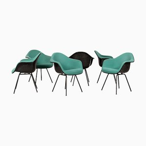DAX Dining Chairs by Charles & Ray Eames for Vitra, 1980s, Set of 6