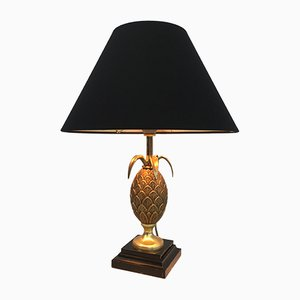 Lámpara de mesa francesa de bronce, años 70