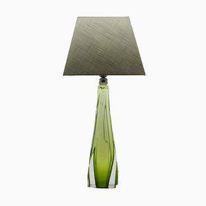 Vintage Crystal Table Lamp from Val Saint Lambert