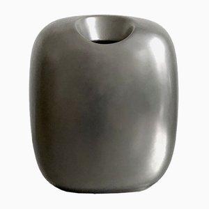 Silberne minimalistische Vase von Timo Sarpaneva für Rosenthal, 1990er