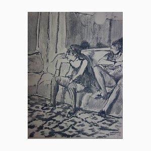 """Reproduktion eines A Monotype, wie er in der Erstauflage von """"mimes Des Courtisanes De Lucien / Dialogue the Courtesans by Lucien"""" veröffentlicht wurde Trans. Pierre Louys Radierung von Edgar Degas, 1930er"""