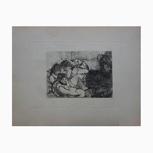 Pierre Louys Radierung von Edgar Degas, 1930er