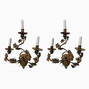 Antique Italian Wall Lights, Set of 2
