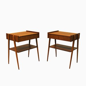 Swedish Teak Nightstands from AB Carlström & Co, 1960s, Set of 2