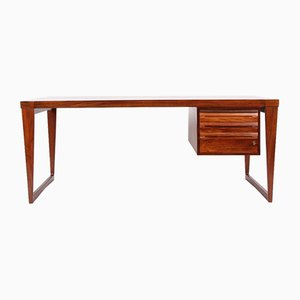 Danish Model 70 Rosewood Desk by Kai Kristiansen for Feldballes Møbelfabrik, 1950s