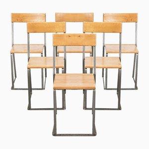Stapelbare schwedische Esszimmerstühle von Arthur Lindqvist für Grythyttan Stålmöbler, 1960er, 6er Set