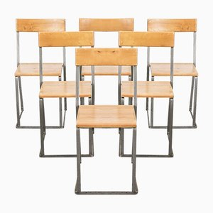 Swedish Stackable Dining Chairs by Arthur Lindqvist for Grythyttan Stålmöbler, 1960s, Set of 6