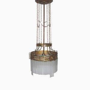 Lámpara de araña modernista, década de 1900