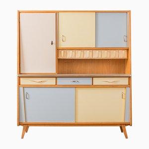 Ash Veneer Kitchen Cabinet, 1950s