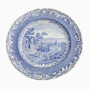 Antiker englischer Keramikteller von Copeland & Garret, 1840er