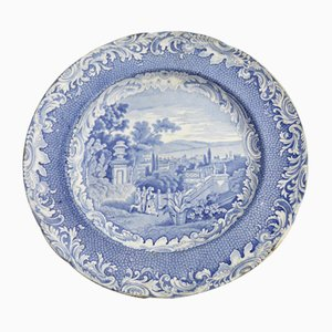 Antique English Pottery Plate from Copeland & Garret, 1840s