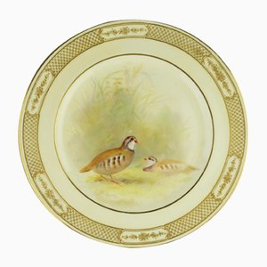 Antique Porcelain Hand-Painted Plate by T. Wilson for Royal Doulton, 1900s
