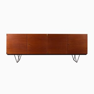 German Teak Veneer Sideboard, 1960s