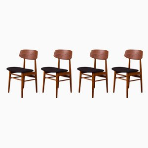German Teak Dining Chairs, 1960s, Set of 4