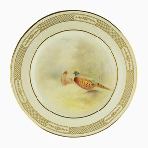 Antique Porcelain Plate by T. Wilson for Royal Doulton, 1900s