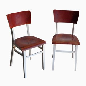 Pine Dining Chairs, 1950s, Set of 2