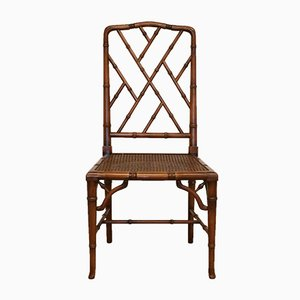 Faux Bamboo Chippendale Dining Chairs, 1970s, Set of 4