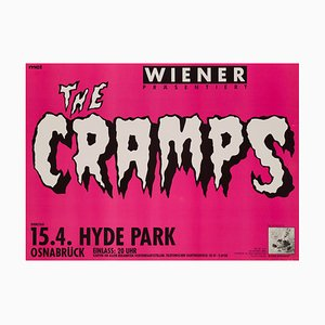 Vintage German The Cramps Concert Poster, 1986