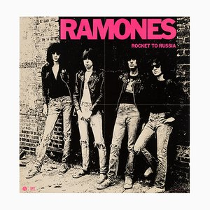 Póster de promoción del álbum Rocket to Russia de The Ramones para Sire Records, 1977