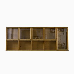 Vintage Wall Display Cabinet, 1940s