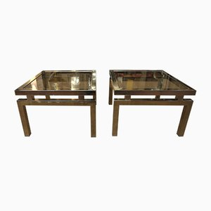 Coffee Tables from Belgo Chrom / Dewulf Selection, 1970s, Set of 2