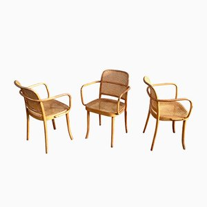 Mid-Century Model 811 Prague Dining Chairs by Josef Hoffmann for Ligna, Set of 3