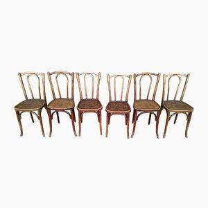 Chaises de Bistro Vintage de Luterma, années 30, Set de 6