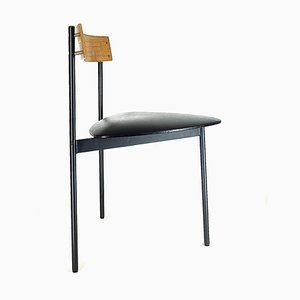 Dreibeiniger Schreibtischstuhl aus Teak von Günter Renkel für Rego, 1950er
