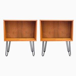 Tables de Chevet en Teck, années 60, Set de 2