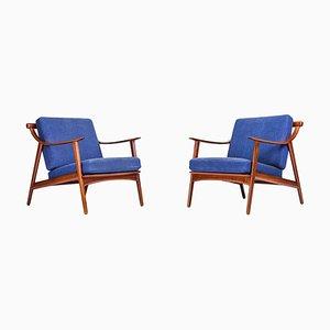 MK 119 Sessel mit Gestell aus Teak von Arne Hovmand-Olsen für Mogens Kold, 1960er, 2er Set
