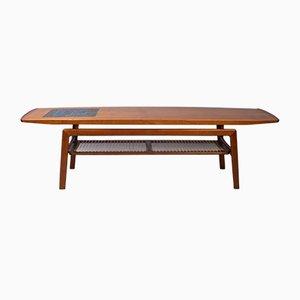 Tavolino da caffè in teak e mosaicato di Arne Hovmand-Olsen per Mogens Kold, anni '60