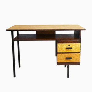 Belgischer Schreibtisch mit Metallgestell, 1960er