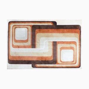Großer Vintage Wollteppich mit geometrischem Muster von Desso, 1970er