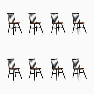 Chaises de Salon Mid-Century, Set de 8
