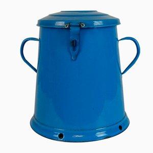 Blau emaillierter Behälter, 1950er