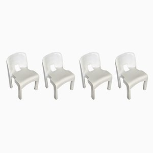 Model 4867 Plastic Garden Chairs by Joe Colombo for Kartell, 1960s, Set of 4