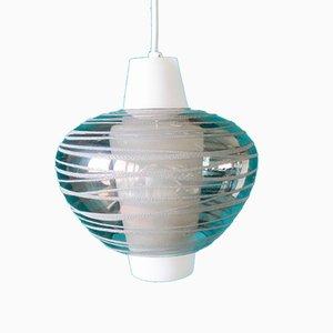 Lámpara de techo sueca vintage de vidrio opalino, años 50